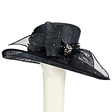 Buy John Lewis Olivia Diamante Sideup Bow Occasion Hat, Dark Grey Online at johnlewis.com