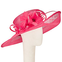Buy John Lewis Mischa Large Up Brim Occasion Hat, Fushia Online at johnlewis.com