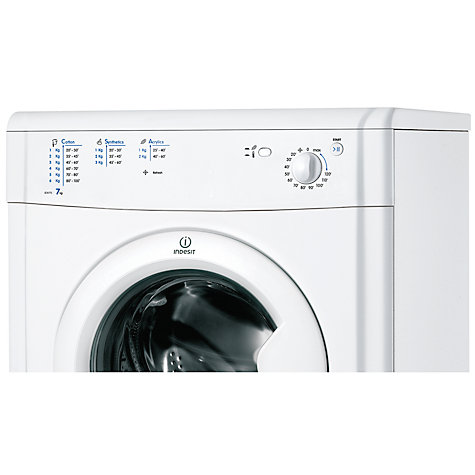 buy indesit idv75 ecotime vented tumble dryer 7kg load b energy rating white john lewis. Black Bedroom Furniture Sets. Home Design Ideas