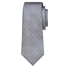 Buy Hackett London Prince of Wales Silk Check Tie, Navy Online at johnlewis.com