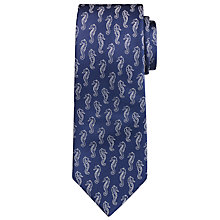 Buy Hackett London Seahorse Silk Tie, Navy Online at johnlewis.com