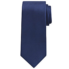 Buy Hackett London Solid Textured Grenadine Silk Tie, Navy Online at johnlewis.com