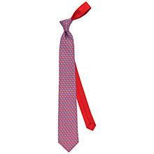 Buy Thomas Pink Fox Friend Printed Silk Tie, Red/Blue Online at johnlewis.com