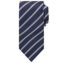 Buy Hackett London Pencil Grenadine Silk Tie, Navy Online at johnlewis.com