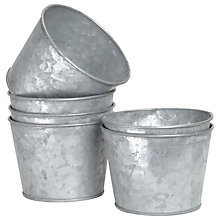 Buy Garden Trading Galvanised Pot Online at johnlewis.com