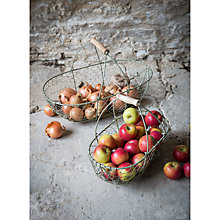 Buy Garden Trading Wire Work Baskets, Set of 2 Online at johnlewis.com