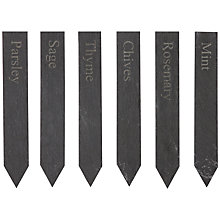 Buy Garden Trading Set Of Herb Slate Markers Online at johnlewis.com