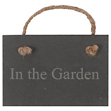 Buy Garden Trading In The Garden Slate Sign Online at johnlewis.com