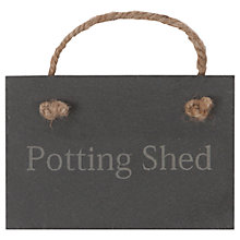 Buy Garden Trading Potting Shed Slate Sign Online at johnlewis.com