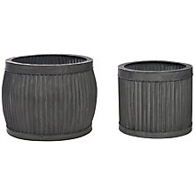 Buy Garden Trading Shallow Vence Planters, Set of 2 Online at johnlewis.com