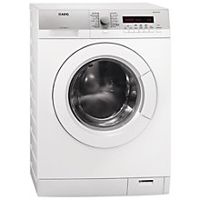 Buy AEG L76685FL Freestanding Washing Machine, 8kg Load, A+++ Energy Rating, 1600rpm Spin, White Online at johnlewis.com