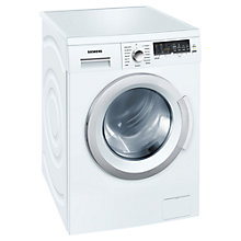 Buy Siemens WM14Q478GB Washing Machine, 8kg Load, A+++ Energy Rating, 1400rpm Spin, White Online at johnlewis.com