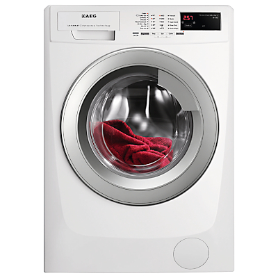 Image of AEG L69480VFL Freestanding Washing Machine, 8kg Load, A+++ Energy Rating, 1400 rpm Spin, White