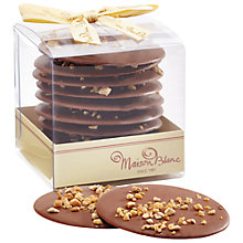 Buy Maison Blanc Milk Chocolate Discs With Hazelnut Online at johnlewis.com