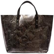 Buy Gerard Darel Soho Leather Tote Bag, Silver Online at johnlewis.com