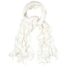 Buy White Stuff Fiona Plain Scarf, White Online at johnlewis.com