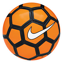 Buy Nike Menor Football, Size 4, Orange/Black Online at johnlewis.com
