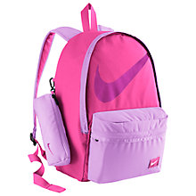 Buy Nike Half Day Back to School Backpack, Pink Pow/Fuchsia Glow Online at johnlewis.com