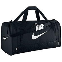 Buy Nike Brasilia 6 Large Duffel Bag, Black/White Online at johnlewis.com
