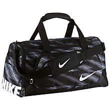 Buy Nike YA TT Small Kids' Duffle Bag, Black Online at johnlewis.com