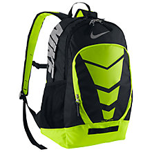 Buy Nike Max Air Vapor Backpack, Black/Volt Online at johnlewis.com