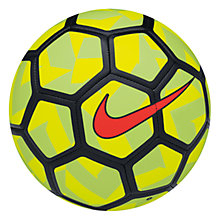 Buy Nike Strike Team Beach Football, Size 5, Volt/Black Online at johnlewis.com