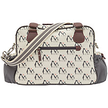Buy Pink Lining Not So Plain Jane Penguin Love Baby Changing Bag, Cream Online at johnlewis.com