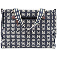 Buy Pink Lining Bramley Tote Butterfly Print Baby Changing Bag, Navy Online at johnlewis.com