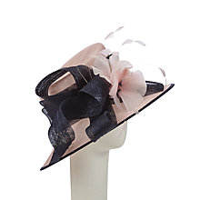 Buy John Lewis Cami Side Up Swirl Occasion Hat, Navy/Pink Online at johnlewis.com