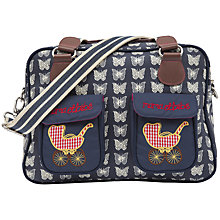 Buy Pink Lining Mama Et Bebe Butterfly Print Baby Changing Bag, Navy Online at johnlewis.com