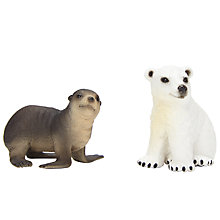 Buy Schleich Wild Life Babies: Polar Bear Cub & Sea Lion Pup Online at johnlewis.com
