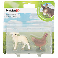 Buy Schleich Farm Life Babies: Lamb & Hen Online at johnlewis.com