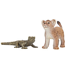 Buy Schleich Wild Life Babies: Baby Crocodile & Lion Cub Online at johnlewis.com