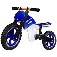 Buy Kiddimoto Scrambler Balance Bike, Blue Online at johnlewis.com