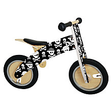 Buy Kiddimoto Kurve Balance Bike, Skullz Online at johnlewis.com