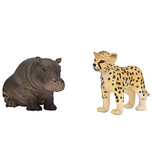 Buy Schleich Wild Life Babies: Hippo Calf & Cheetah Cub Online at johnlewis.com