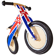 Buy Kiddimoto Kurve Balance Bike, Union Jack Online at johnlewis.com