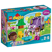 Buy LEGO DUPLO 10605 Disney Doc McStuffins Rosie The Ambulance Online at johnlewis.com