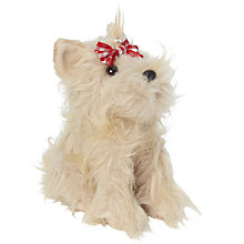 Buy John Lewis Maltese Puppy Soft Toy, Beige Online at johnlewis.com