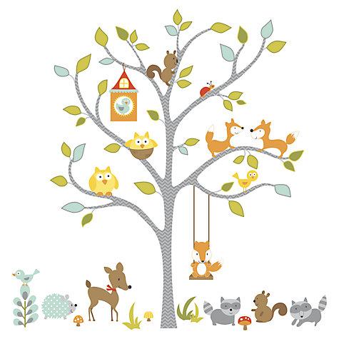 buy roommates woodland tree wall sticker john lewis nursery wall decal woodland forest animals wall decal tree
