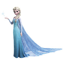 Buy Disney Frozen Elsa Wall Sticker Online at johnlewis.com