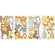 Buy Roommates Woodland Friend And Fox Wall Sticker Online at johnlewis.com