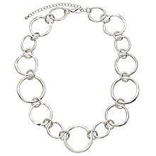 Buy John Lewis Mixed Circles Necklace, Silver Online at johnlewis.com