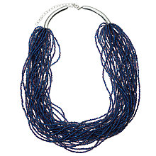 Buy John Lewis Layered Sead Bead Necklace, Blue Online at johnlewis.com