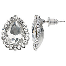 Buy John Lewis Cubic Zirconia Pear Stud Earrings, Silver Online at johnlewis.com
