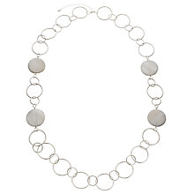 Buy John Lewis Large Circles Long Necklace, Silver Online at johnlewis.com