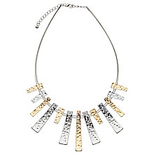 Buy John Lewis Wire Metallic Bars Necklace, Gold/Silver Online at johnlewis.com