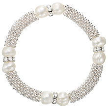 Buy John Lewis Multi Faux Pearl Bracelet, Silver Online at johnlewis.com