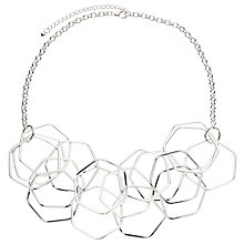 Buy John Lewis Hexagonal Necklace, Silver Online at johnlewis.com