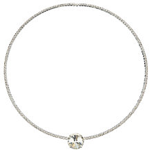 Buy John Lewis Skinny Choker Diamante Stone Necklace, Silver Online at johnlewis.com